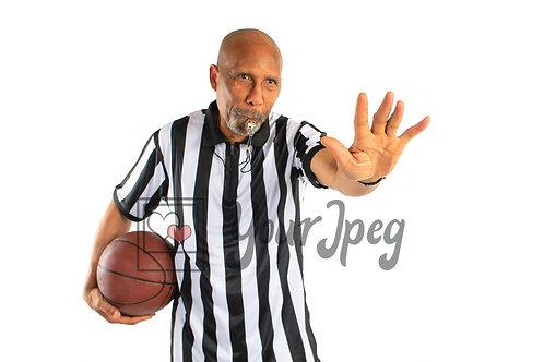 Older male referee