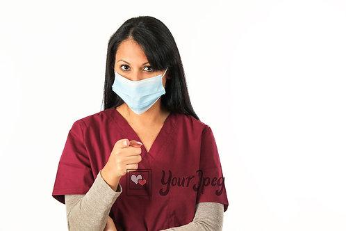 Female Nurse Pointing