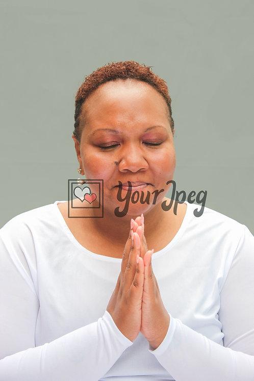 Woman pious praying