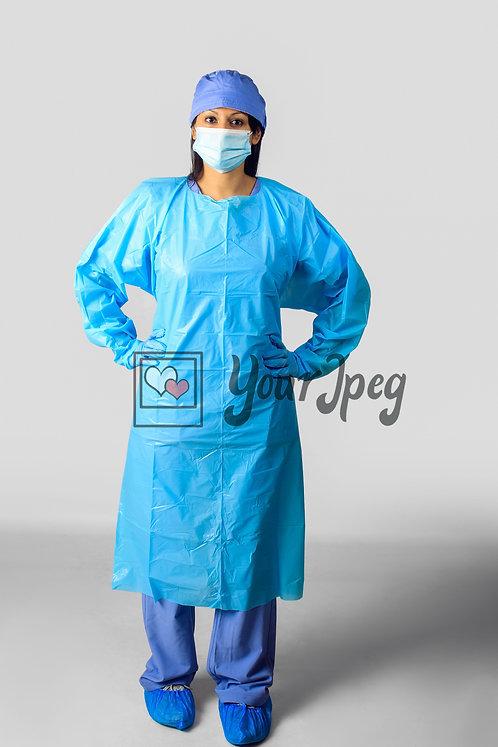 Female Nurse In Protective Equipment
