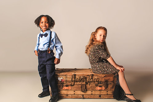 Boy and Girl Modeling With Chest
