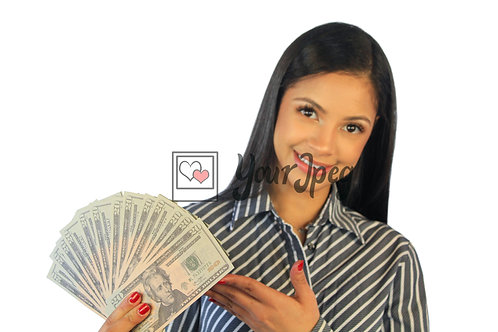 Woman Showing Off Money