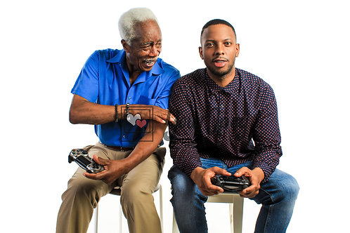 Father and Son Playing Video Games #5