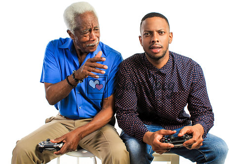 Father and Son Playing Video Games #3