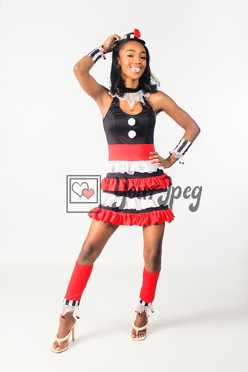 Woman Modeling In Costume