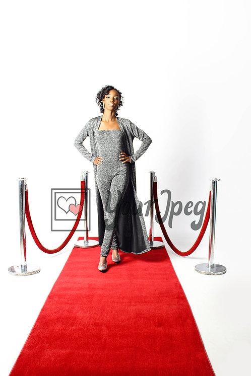 Woman Walking Down Red Carpet