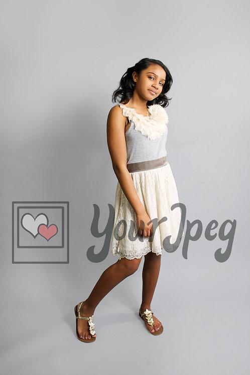 Tween fashion model