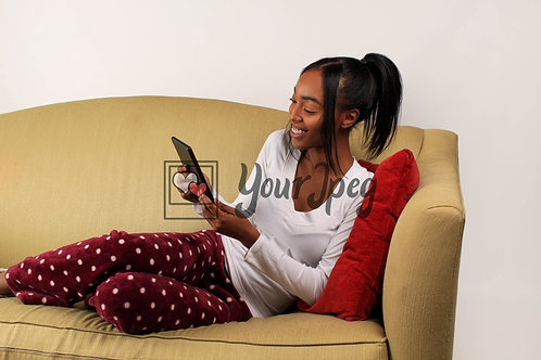 Young woman looking at tablet
