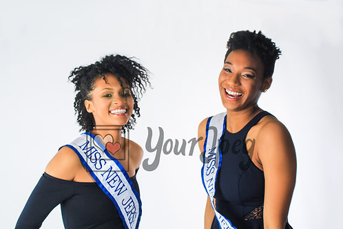 Titleholders laughing