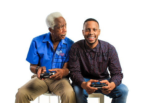 Father and Son Playing Video Games #6