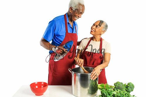 Senior Grandpa and Grandma Cooking #3