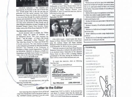 Dr. Anthony Harper Highlights Desecration of Jewish Cemetery in Vilna