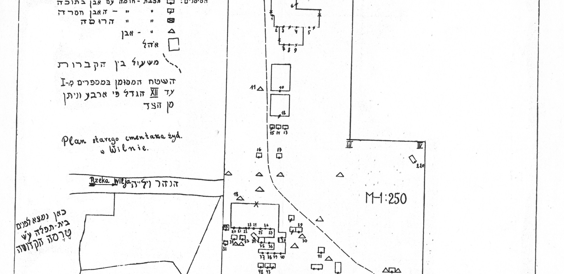 Klausner Map of Old Jewish Cemetery, top