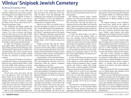 Historical Importance of Jewish Cemetery in Vilna