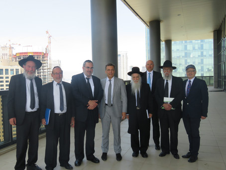 High Level Jewish Delegation Meet With Lithuanian Ambassador