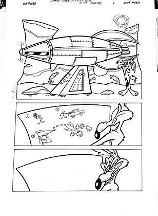 Vintage Looney Tunes Comic Book Interior Page 88