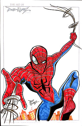 Spiderman Color Original Art
