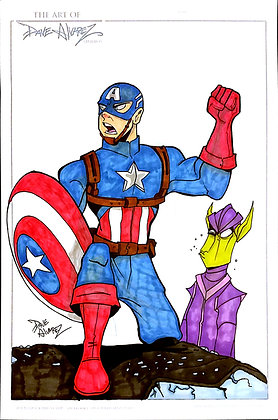 Captain America Color Original Art