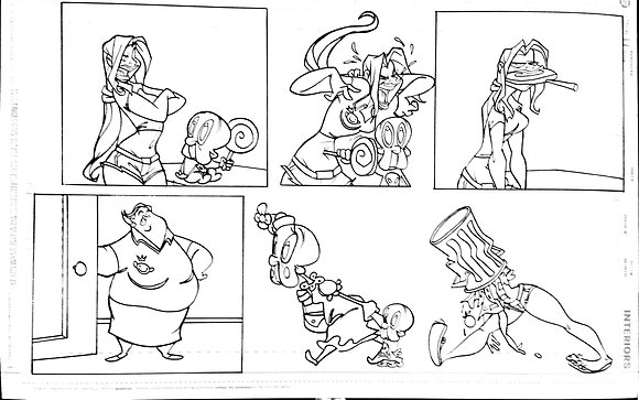 Original Classic Yenny Comic Strip Interior Page
