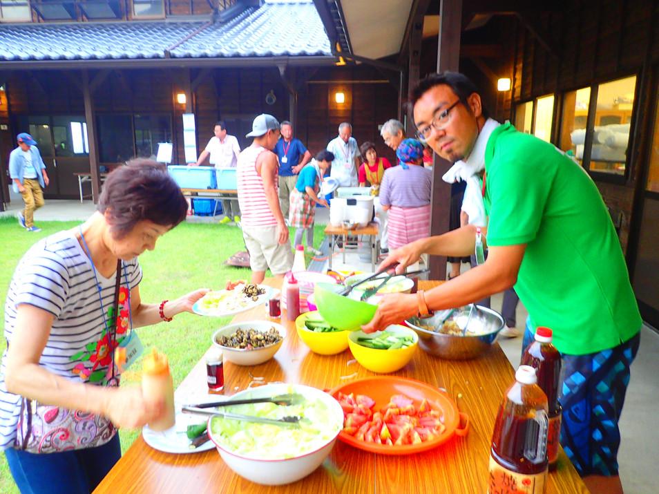 第6回竹野浜オープンウォータースイミング大会前夜祭(海鮮BBQ)