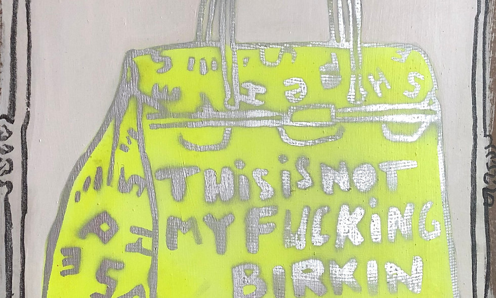 THIS IS NOT MY F***ING BIRKIN, IT'S A SHEƎP KNOCKOFF (YELLOW)