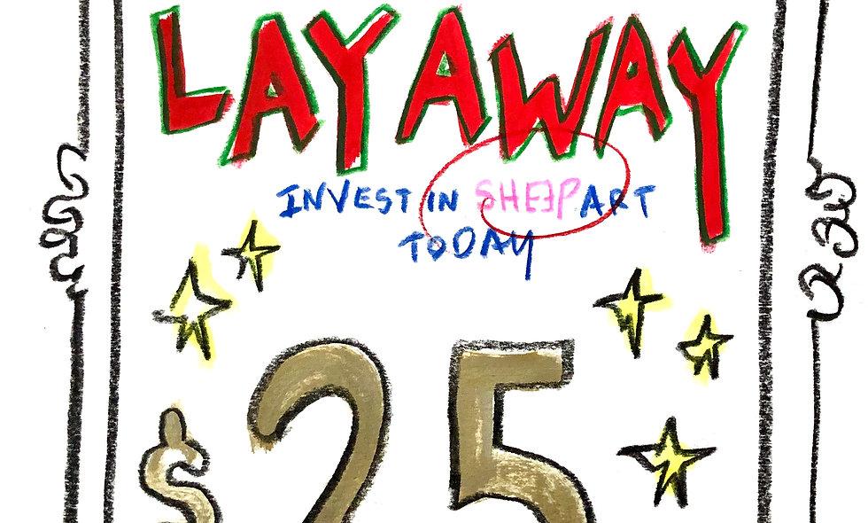 SHEƎP LAYAWAY $25