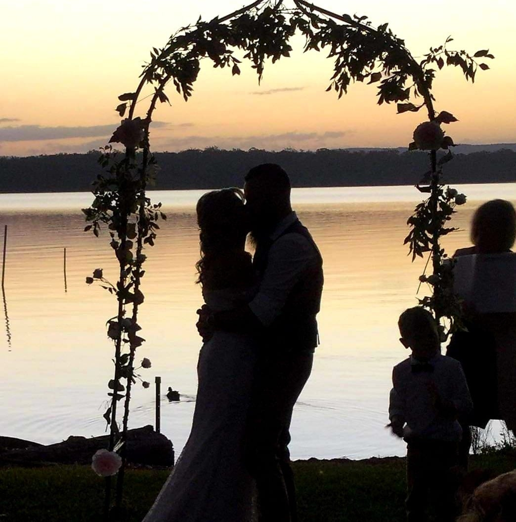 Lakeside wedding in Sanctuary Point