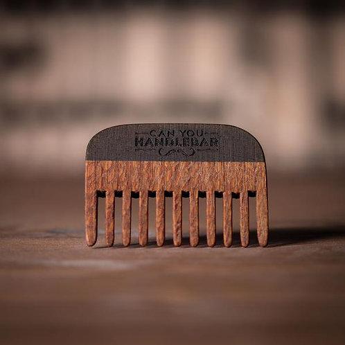Leopard Wood Handmade Beard Comb