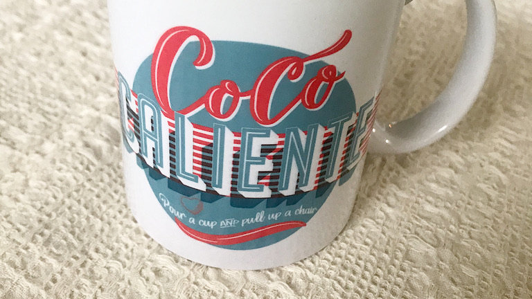 Retro Logo Mug- Coco Caliente 11 oz