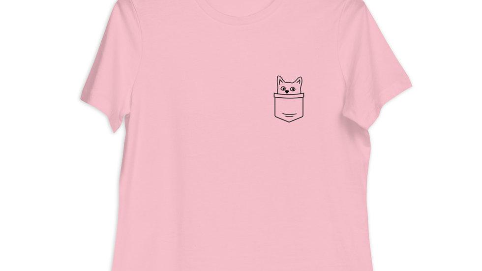 Women's Relaxed T-Shirt | Cat pocket