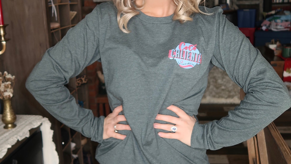 Forest Green Long Sleeve Soft Coco Caliente Tee