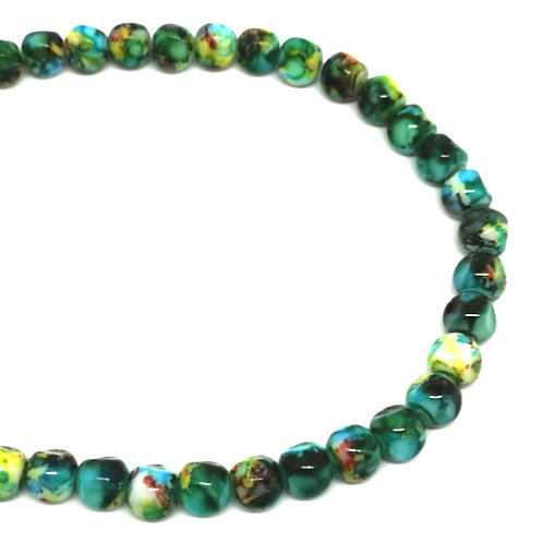 30 Glasperlen, multicolor