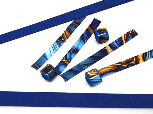 Papierstreifen Blauer Strudel
