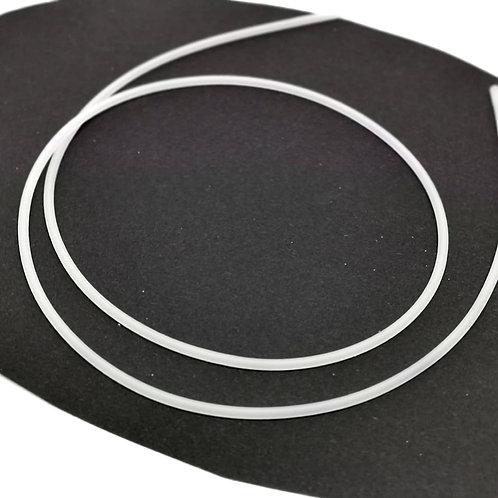 Schmuckschlauch, 2,5mm weiß