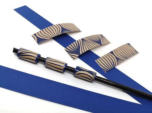 Modulperlenstreifen Linee blue