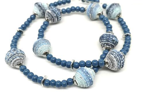 Glasperlen blau 4mm