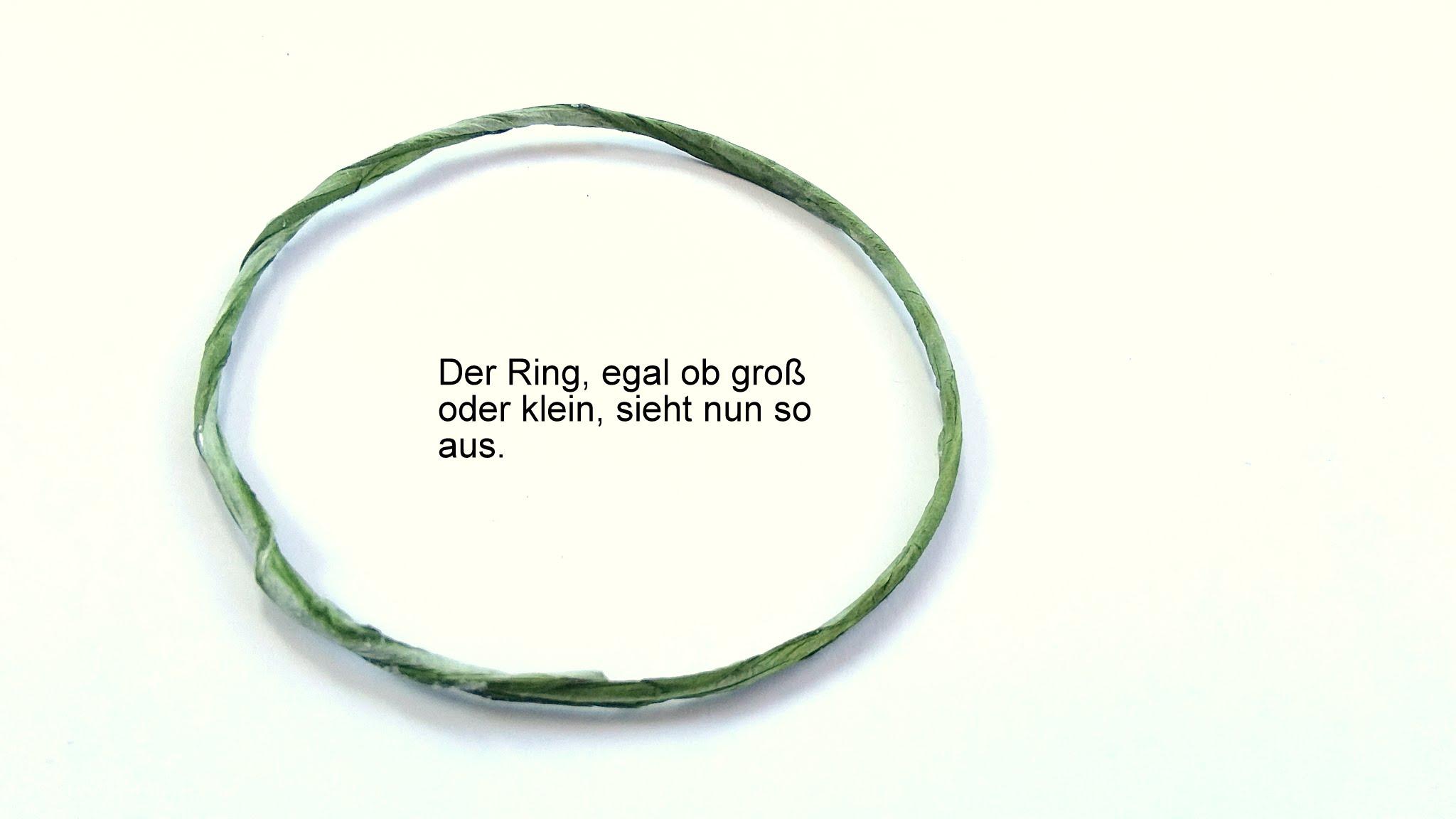 Ring schließen