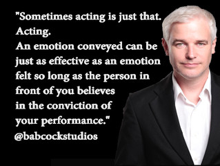 Babcock Studios - Sometimes acting is just that. Acting.