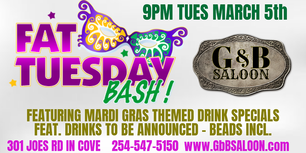Mardi Gras Fat Tuesday Bash