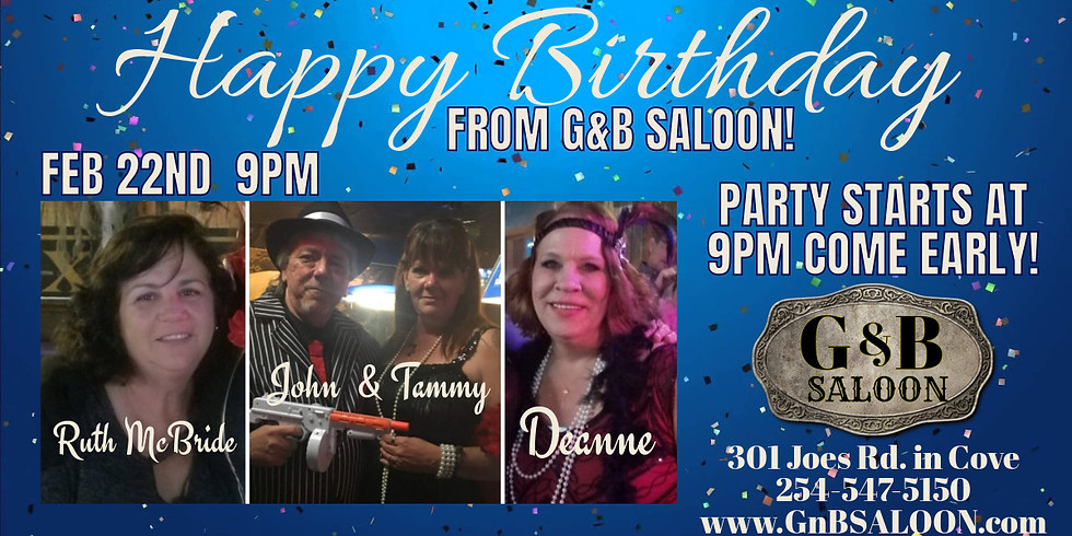 Monthly BDAY BASH Event