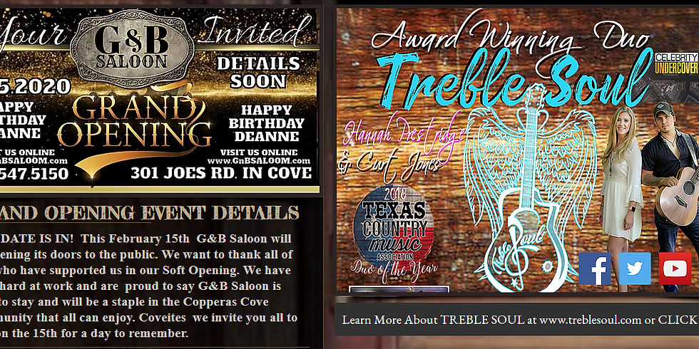 GRAND OPENING EVENT/ Treble Soul in Concert