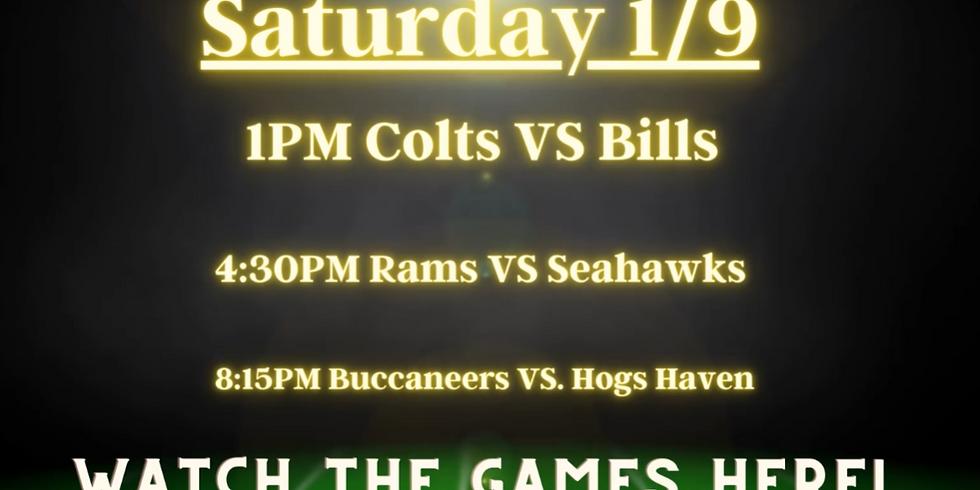 1/9 SAT - NFL WildCard Games