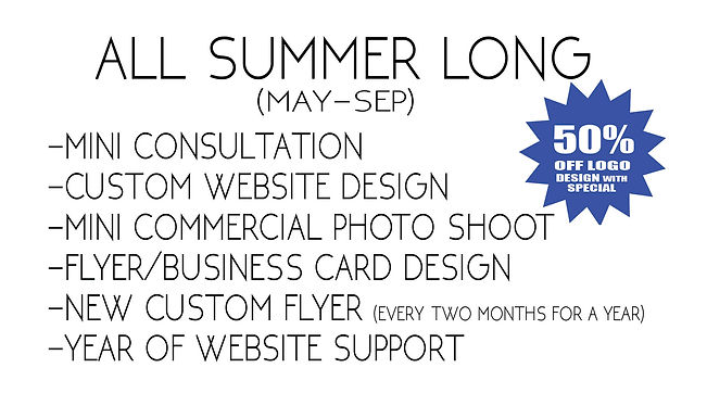 summer business design promo special FLY