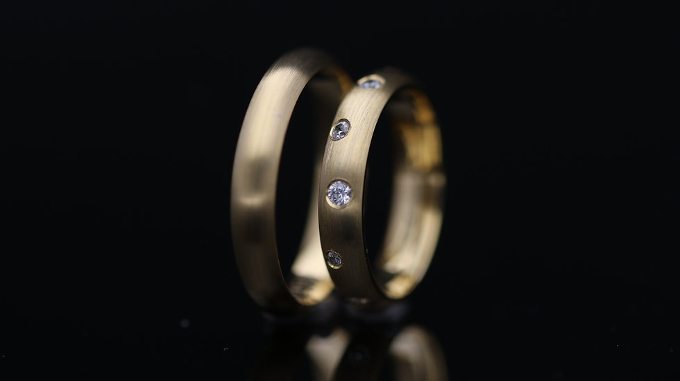 Svadobné obrúčky / Wedding rings R252 / VIDEO / Cena s DPH