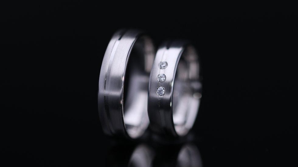 Svadobné obrúčky / Wedding rings P34 / VIDEO / Cena s DPH