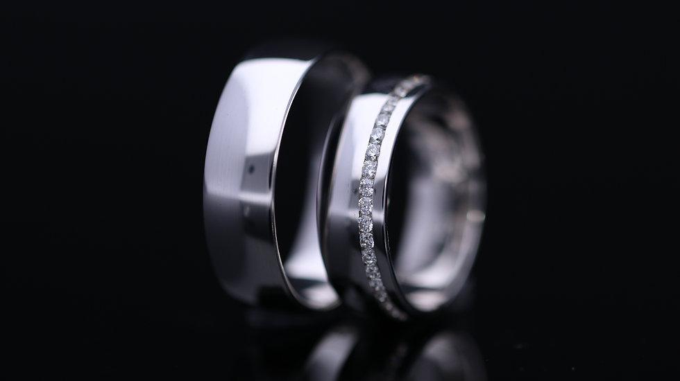 Svadobné obrúčky / Wedding rings A627 / VIDEO / Cena s DPH