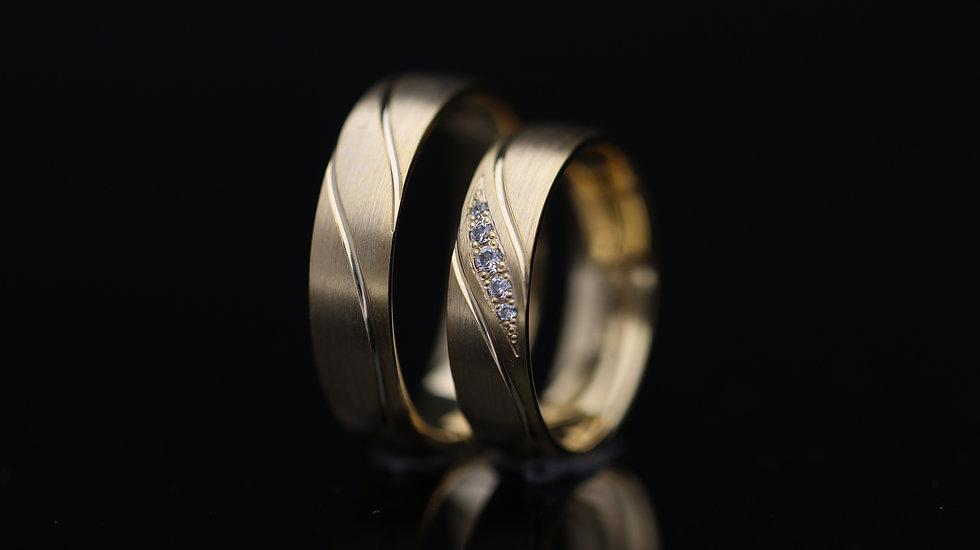 Svadobné obrúčky / Wedding rings P28 / VIDEO / Cena s DPH