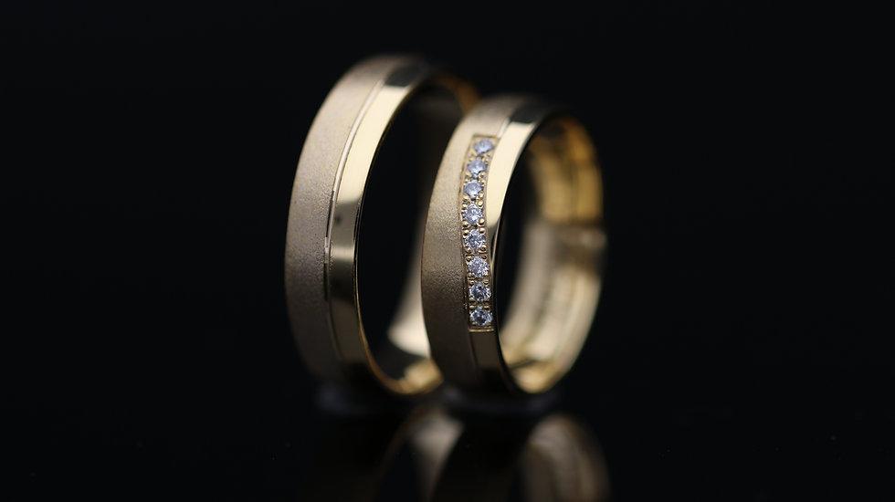 Svadobné obrúčky / Wedding rings R351 / VIDEO / Cena s DPH