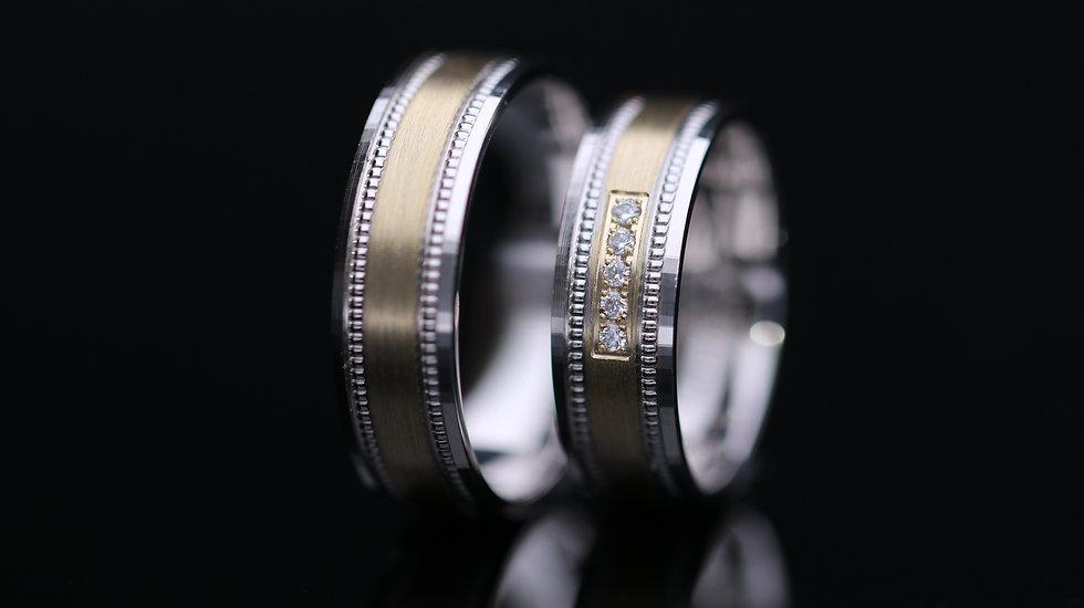 Svadobné obrúčky / Wedding rings A1069 / VIDEO / Cena s DPH