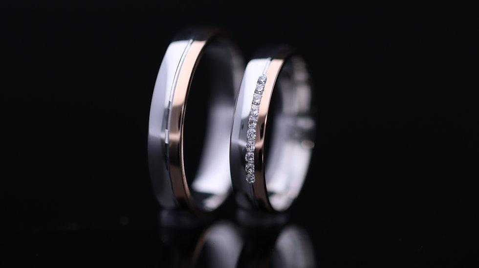 Svadobné obrúčky / Wedding rings L3 / VIDEO / Cena s DPH